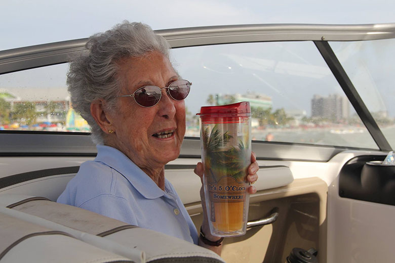 90 year old and her poodle Ringo on road trip 11