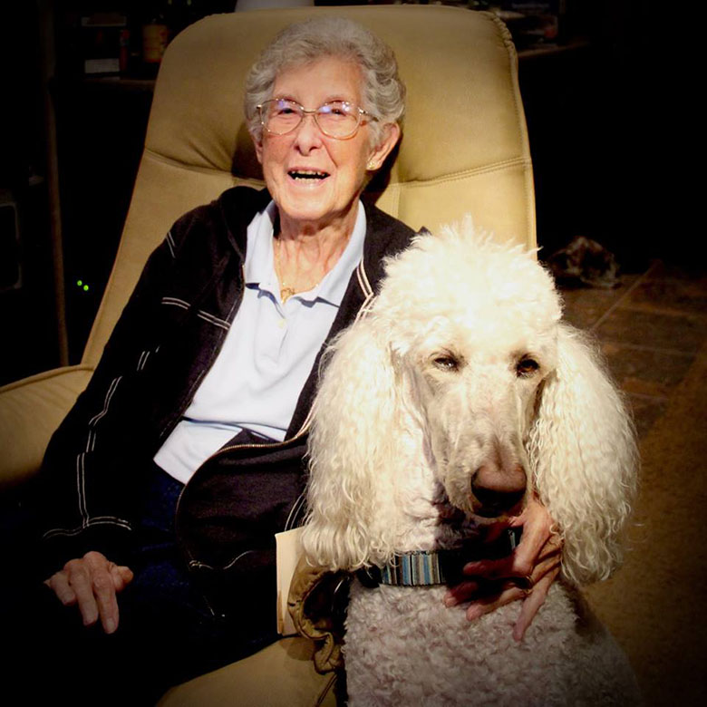 90 year old and her poodle Ringo on road trip 12