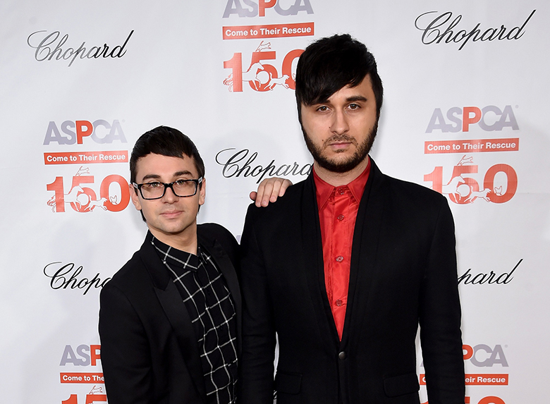 """""""NEW YORK, NY - APRIL 14: Designer Christian Siriano and Brad Walsh attend ASPCA 19th Annual Bergh Ball honoring Drew Barrymore, hosted by Nathan Lane wiith music by Mark Ronson at the Plaza Hotel on April 14, 2016 in New York City. (Photo by Jamie McCarthy/Getty Images)"""""""