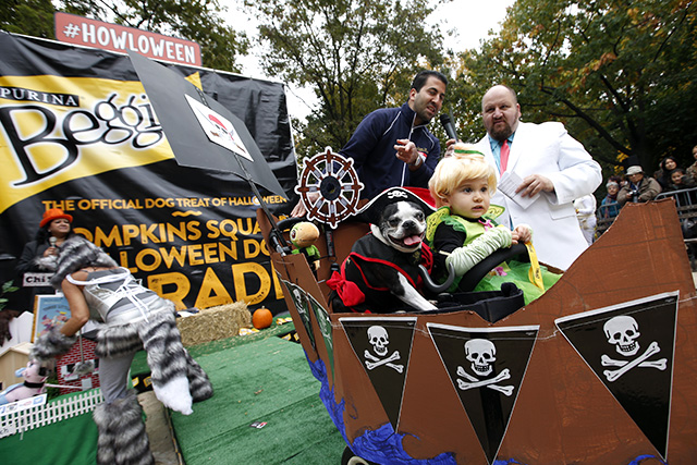 Tompkins Square Halloween Dog Parade presented by Purina Beggin' on Saturday, Oct. 24, 2015 in New York. (Photo by Jason DeCrow/Invision for Purina Beggin'/AP Images)