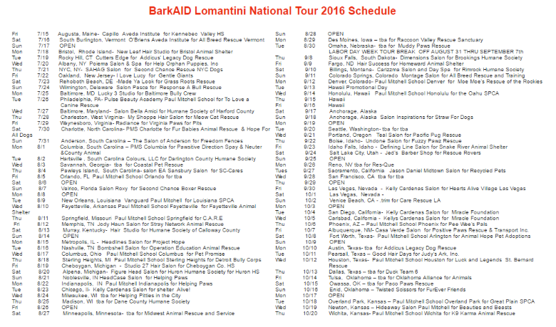 BarkAID schedule 1