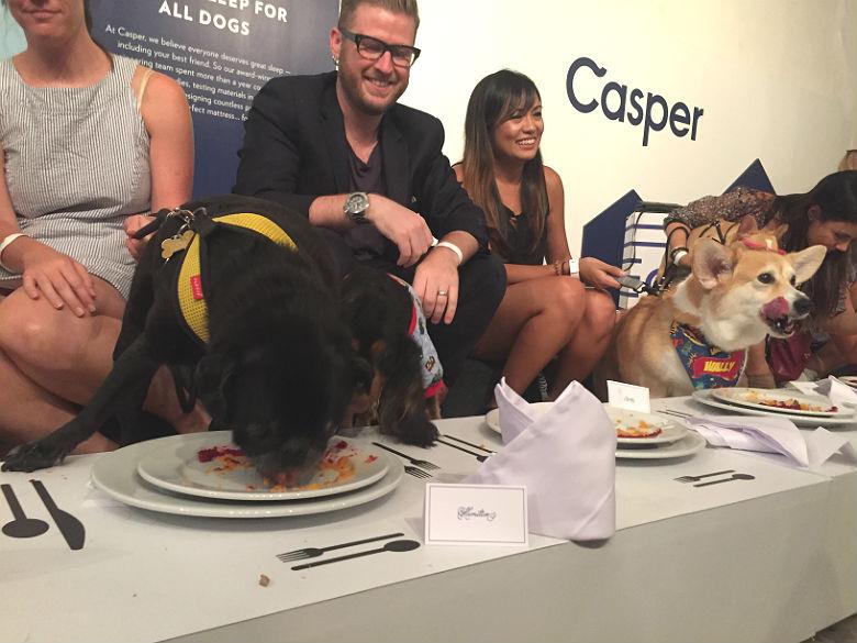 Casper Hamilton and Wally at Dinner