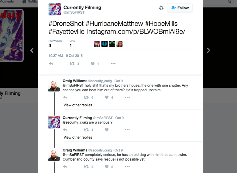 Dog Saved By Twitter conversation 1