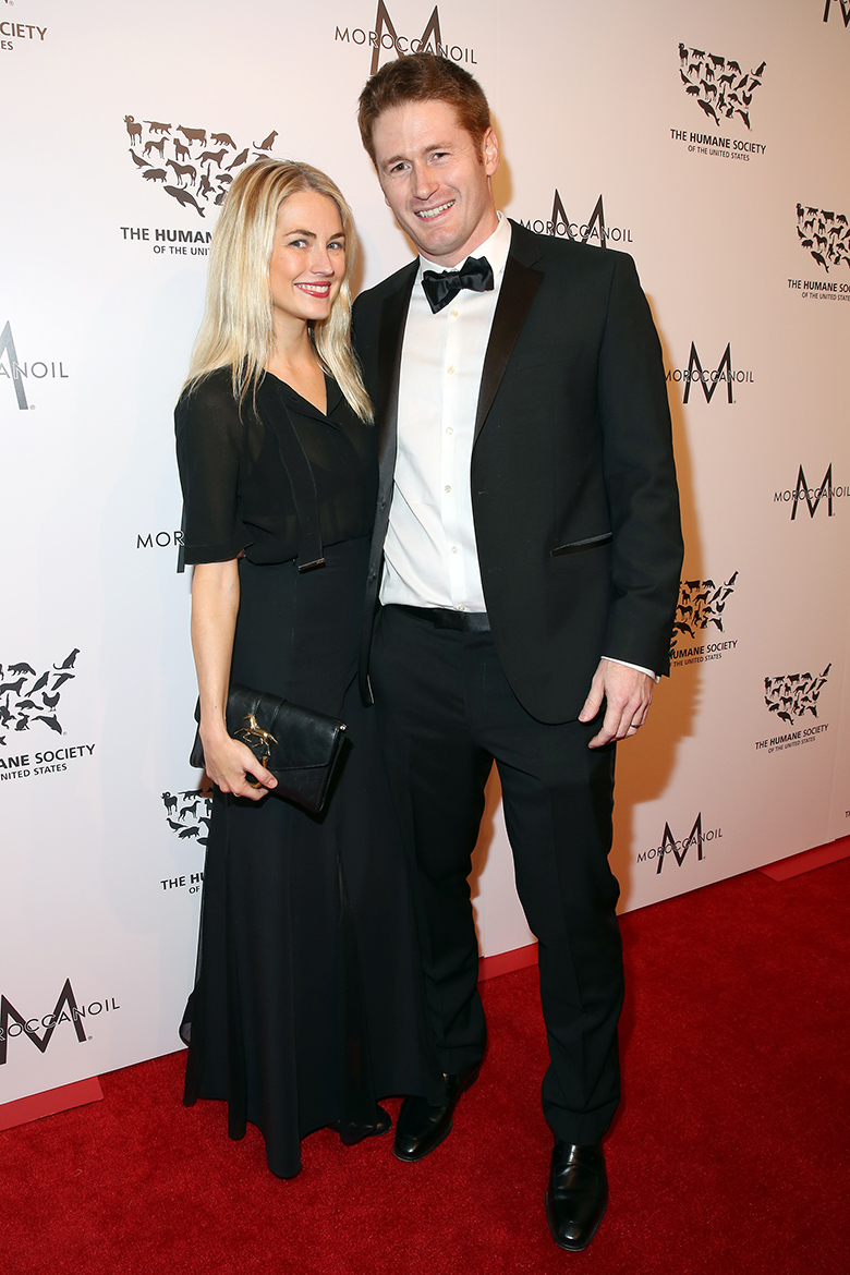 Event chair's Amanda Hearst and Steve Read. (Amy Sussman/Invision for The Humane Society of The United States/AP Images)