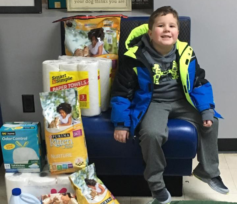 A 6 Year Old Boy Forgoes All His Birthday Presents To Help Dogs And Cats At Local Shelter