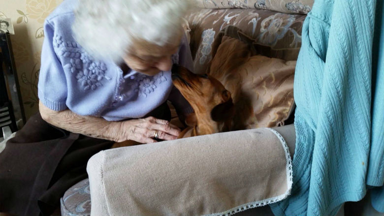 grandma and puppy 1