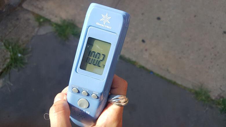 Temperature of 100.2