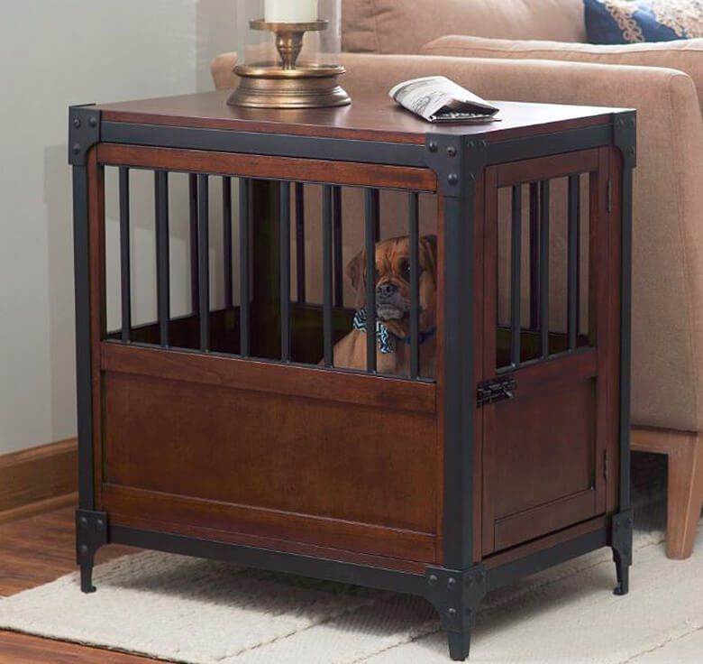 cool end table dog crate furniture | The Coolest Dog Crates Disguised as Stylish Furniture