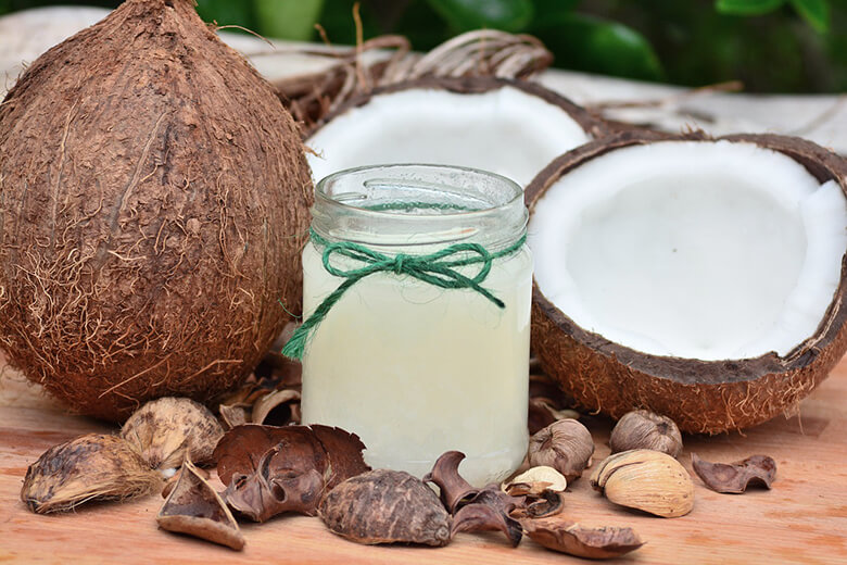 Foods to help with skin and coat for dogs coconut
