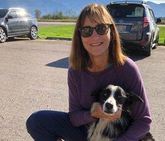 dog and woman
