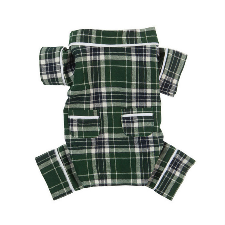 Fabdog plaid dog pajamas 1
