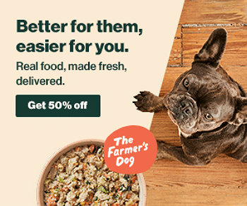 50% half off Farmer's Dog
