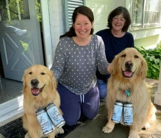 A Pair of 'Brew Dogs' Help Deliver Beer During Pandemic