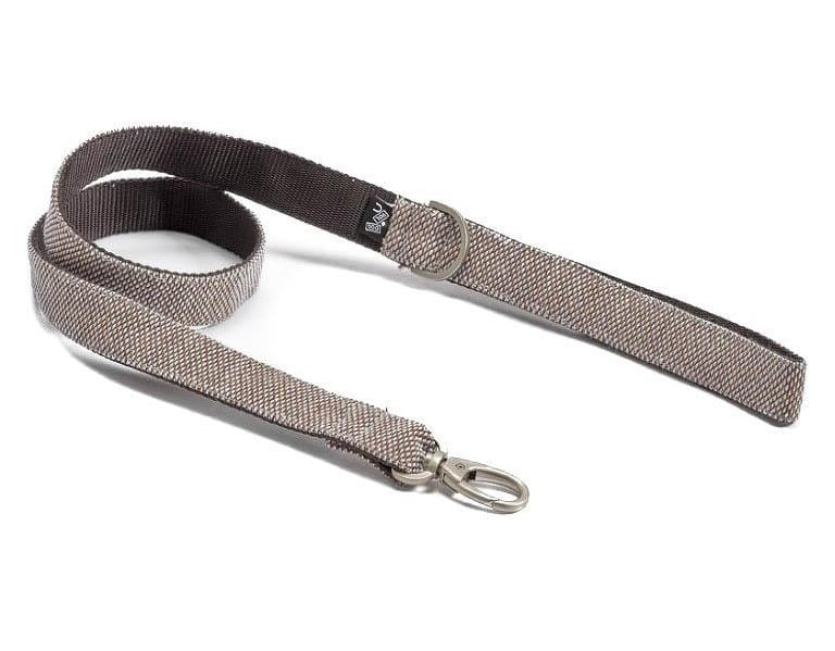 Adjustable Dog Leash in Cocoa Brown Weave