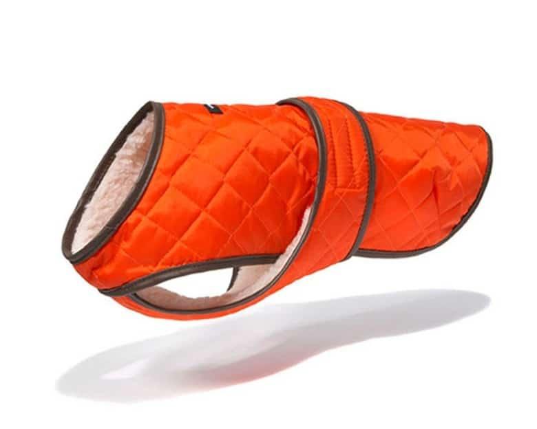 WagWear Berber Fleece Jacket Vest in Orange