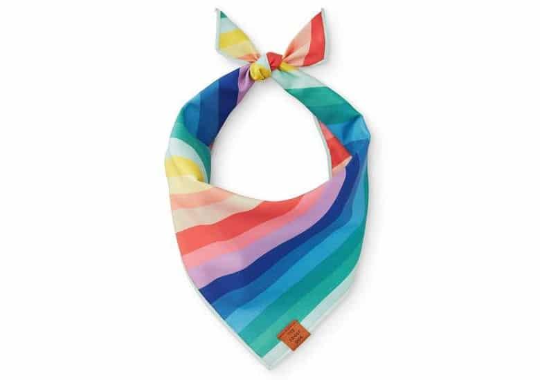 The Foggy Dog Pastel Rainbow Bandana